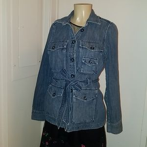 Gap 1969 denim jean button up jacket med